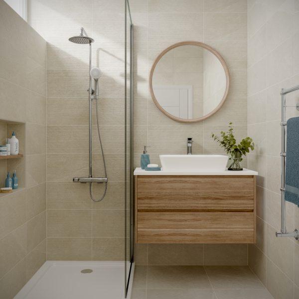 Dominican Cream Wall Bathroom Tiles 250 x 500mm Per Box