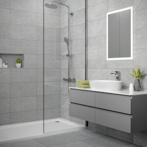 Dominican Grey Wall Bathroom Tiles 250 x 500mm Per Box