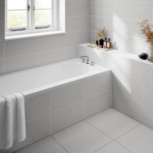 Dominican White Wall Bathroom Tiles 250 x 500mm Per Box