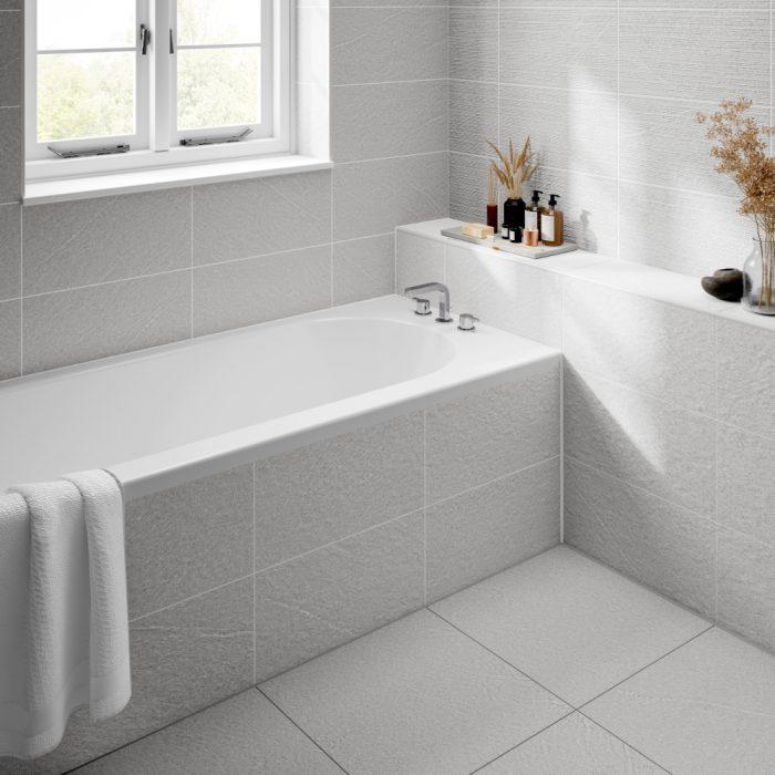 dominican white decor wall bathroom tiles 250 x 500mm