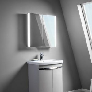 Double Illuminated Mirror Cabinet 670 x 650mm