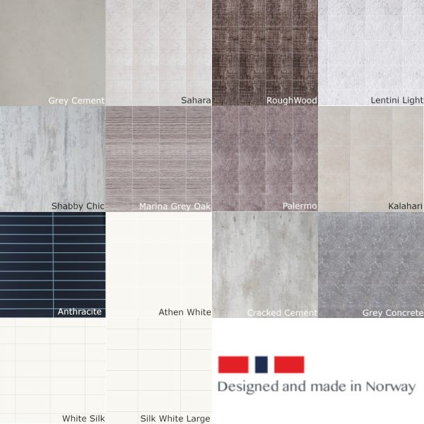 Fibo Scandinavian Range Laminate Wall Panelling In Various Colours