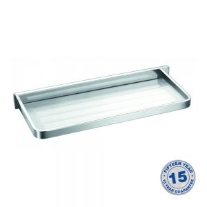 Flova Sofija Frosted Glass Shelf 330mm In Chrome