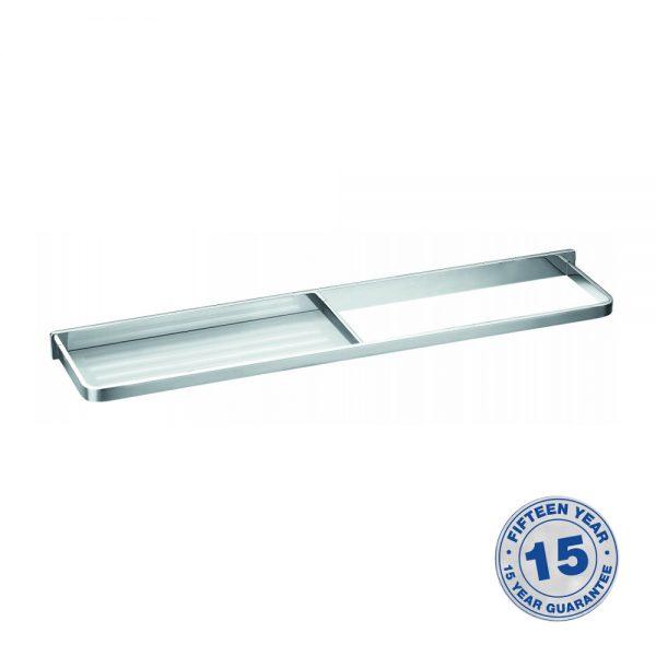 Flova Sofija Glass Shelf & Towel Rail In Chrome