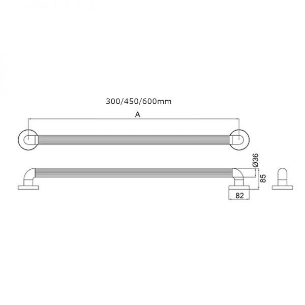 Grab-Rail-Concealed-Fixings-300-450-600mm-Length-In-White-Size