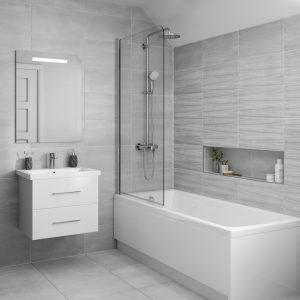 Grenada Grey Wall Bathroom Tiles 250 x 500mm Per Box