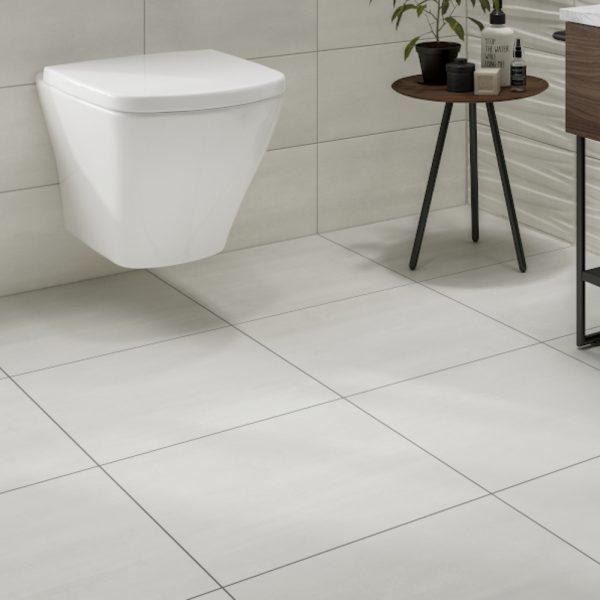 Grenada White Wall & Floor Bathroom Tiles 500 x 500mm Per Box
