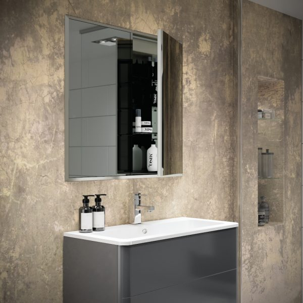 HIB Essence Recessed Double Mirror Cabinet 630x730 & 830x730mm