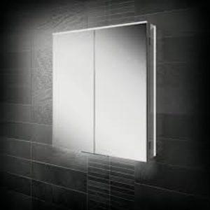 HIB Ether LED Illuminated Double Mirror Cabinet 600x700 & 800x700mm