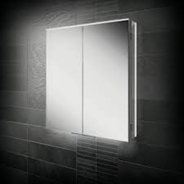 HIB Ether LED Illuminated Double Mirror Cabinet 600x700 & 800x700mm