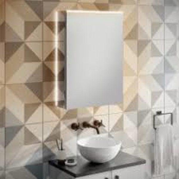 HIB Ether LED Illuminated Mirror Cabinet 500 x 700mm