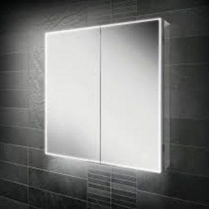 HIB Exos LED Illuminated Double Mirror Cabinet 600x700 & 800x700mm