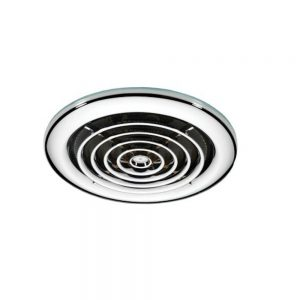 HiB Turbo Inline Ceiling Fan In Chrome