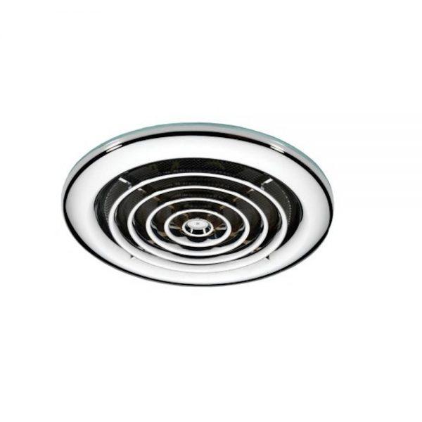 HiB Turbo Inline Ceiling Fan In Chrome