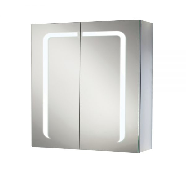 HIB Stratus LED Illuminated Double Mirror Cabinet 600 x 700mm