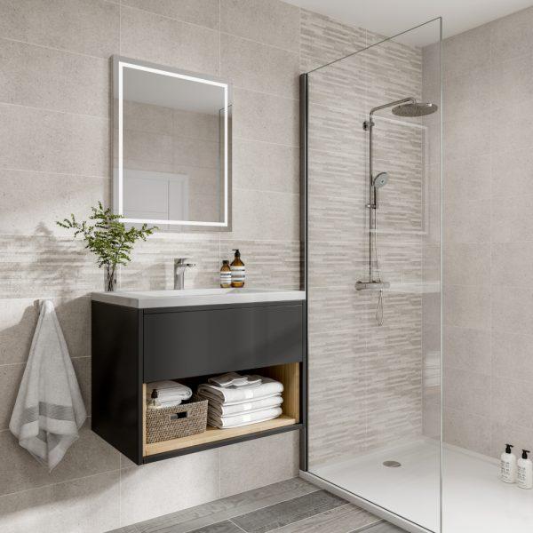 Haiti Silver Decor Wall Bathroom Tiles 250 X 500mm Per Box