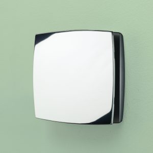 HiB Breeze Extractor Wall Fan With Timer Control And Humidity In Chrome