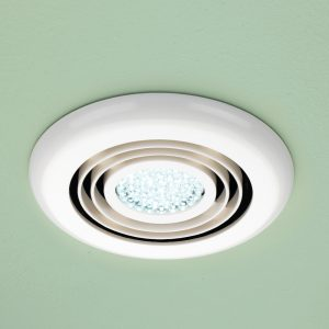 HiB Turbo Timer Inline Ceiling Fan With Cool Light In White