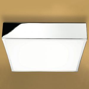 HiB Inertia Square Central Bathroom Ceiling Light In Chrome