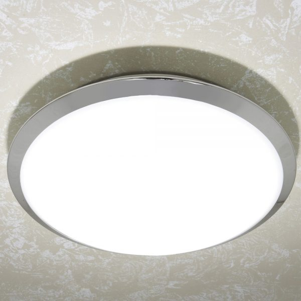 HiB Marius Central Bathroom Chrome Ceiling Light