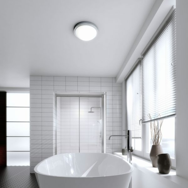Hib Momentum Round Central Bathroom Ceiling Light In Chrome