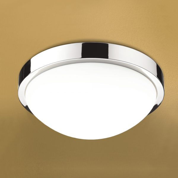 Hib Momentum Round Central Bathroom Ceiling Light In Chrome