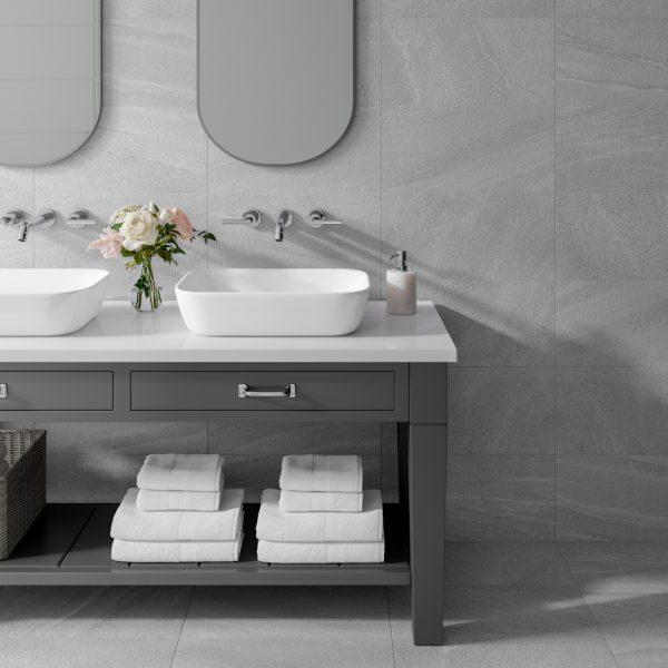 Jamaica Grey Wall Bathroom Tiles 250 x 500mm Per Box