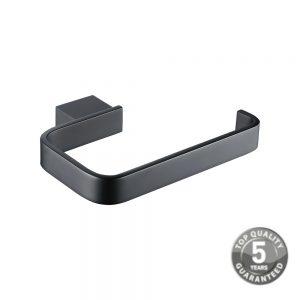 Jersey Black Toilet Roll Holder In Black