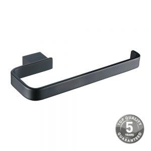 Jersey Black Bathroom Accessory Toilet Roll Holder In Black