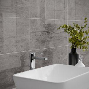 Montserrat Dark Grey Wall Bathroom Tiles 250 x 500mm Per Box