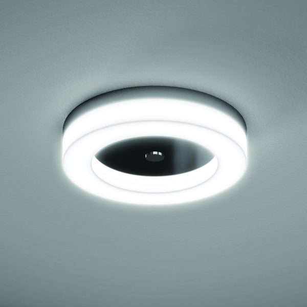 Hib Polar Light Central Bathroom Ceiling In Chrome