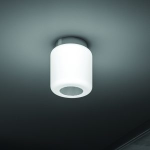 HiB Rhythm Bluetooth Colour Changing Central Chrome Ceiling Light