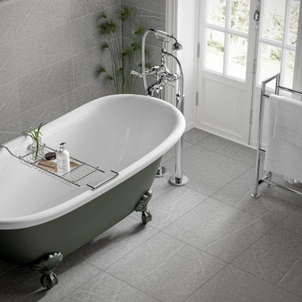 Rico Grey Wall Bathroom Tiles 250 x 500mm Per Box