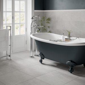 Rico Pearl Grey Wall Bathroom Tiles 250 x 500mm Per Box