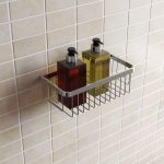 Simply Small Wall Fixed Wire Basket In Chrome Lifestyle