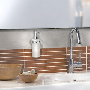 Smedbo Home Glass Liquid Soap Dispenser & Holder