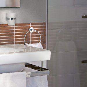 Smedbo Home Towel Ring in Chrome