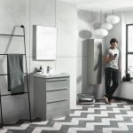 Tanya 600mm Floor Standing Draw Unit & Rectangular Basin In Four Colours lifestyle