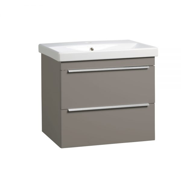 Tanya 600mm Wall Mounted Draw Unit & Basin In Four Colours