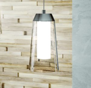 HiB Rise Pendant Ceiling Light In Chrome