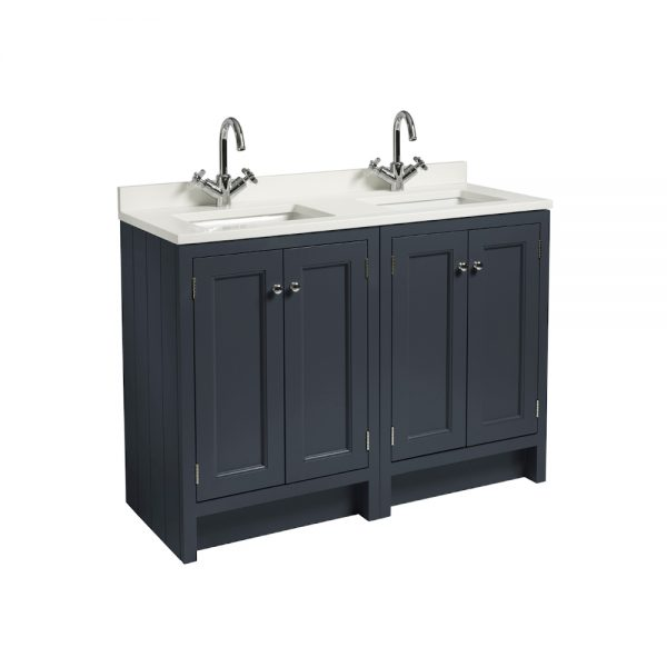 Hampton 1200mm Floor Standing Vanity Unit & Basin With Arctic Worktop, In Four Colours