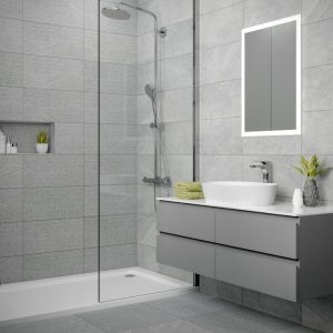 Dominican Grey Wall & Floor Bathroom Tiles 500 x 500mm Per Box