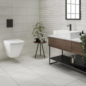 Grenada White Wall & Floor Bathroom Tiles 500 x 500mm Per Box