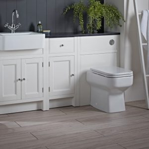 Hampton 600mm Back To Wall Toilet WC Unit In Five Colours