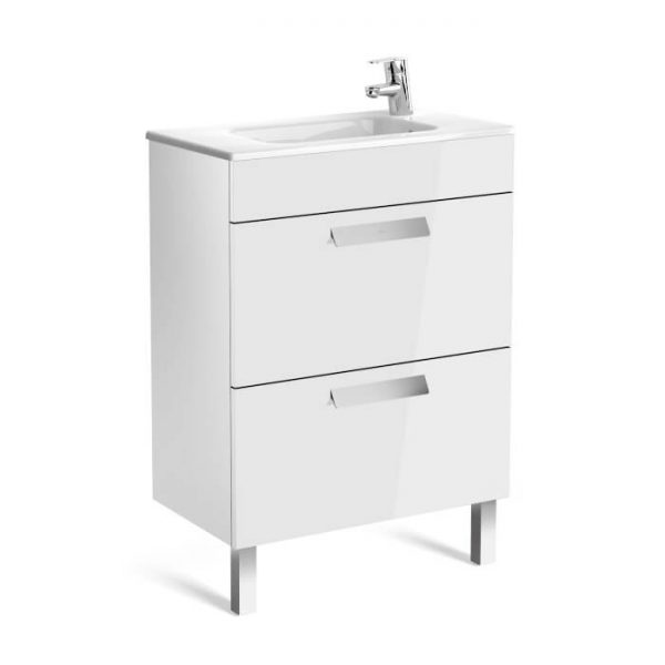 Roca Debba Compact 605mm Wall Mounted Drawer Unit & Basin