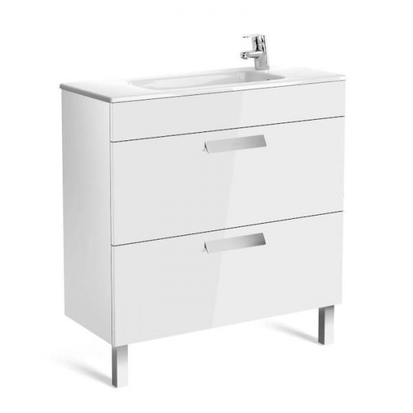 Roca Debba Compact 805mm Wall Mounted Drawer Unit & Basin