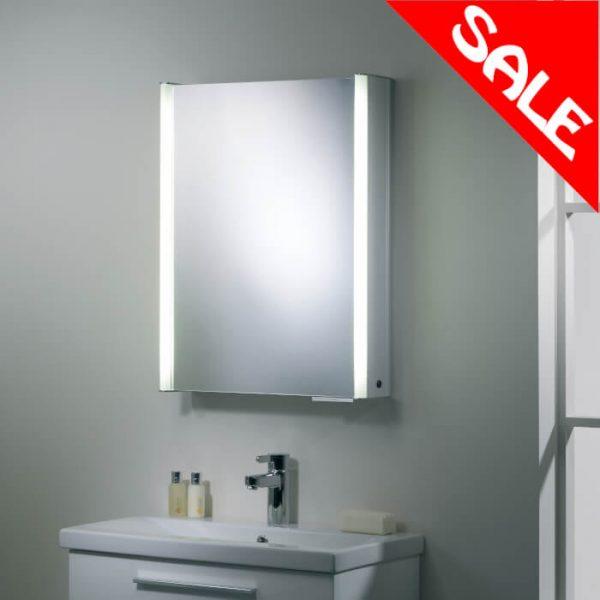 6004 Single Illuminated Mirror Cabinet 544x700mm
