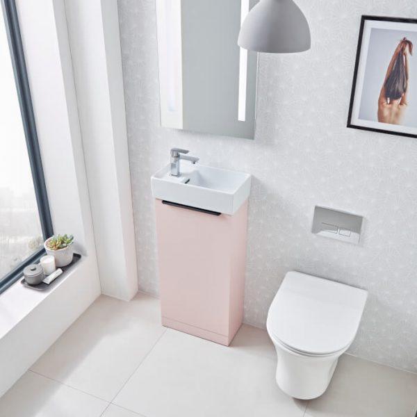 Aira 400mm Cloak Room Vanity Unit & Basin In Six Colours