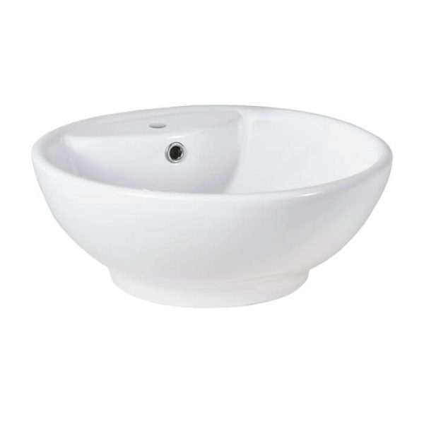 Art Round 460mm Vessel Countertop Bowl 1 Tap Hole
