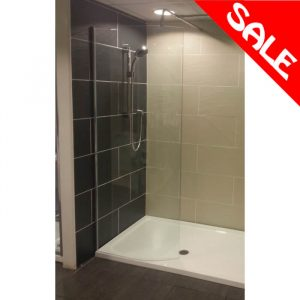 Chanti Wetroom Pack - 1400x900 Tray, 800mm Curved Screen & Waste